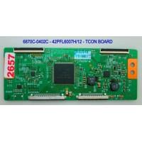 6870C-0402C - 6871L-2919B - 42PFL6007H/12 - 42PFL6057H/12 - 42PFL6877T/12 - TCON BOARD